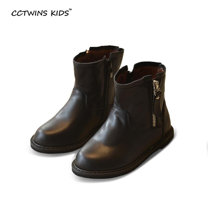 WENDYWU autumn font b winter b font black font b shoes b font children genuine leather