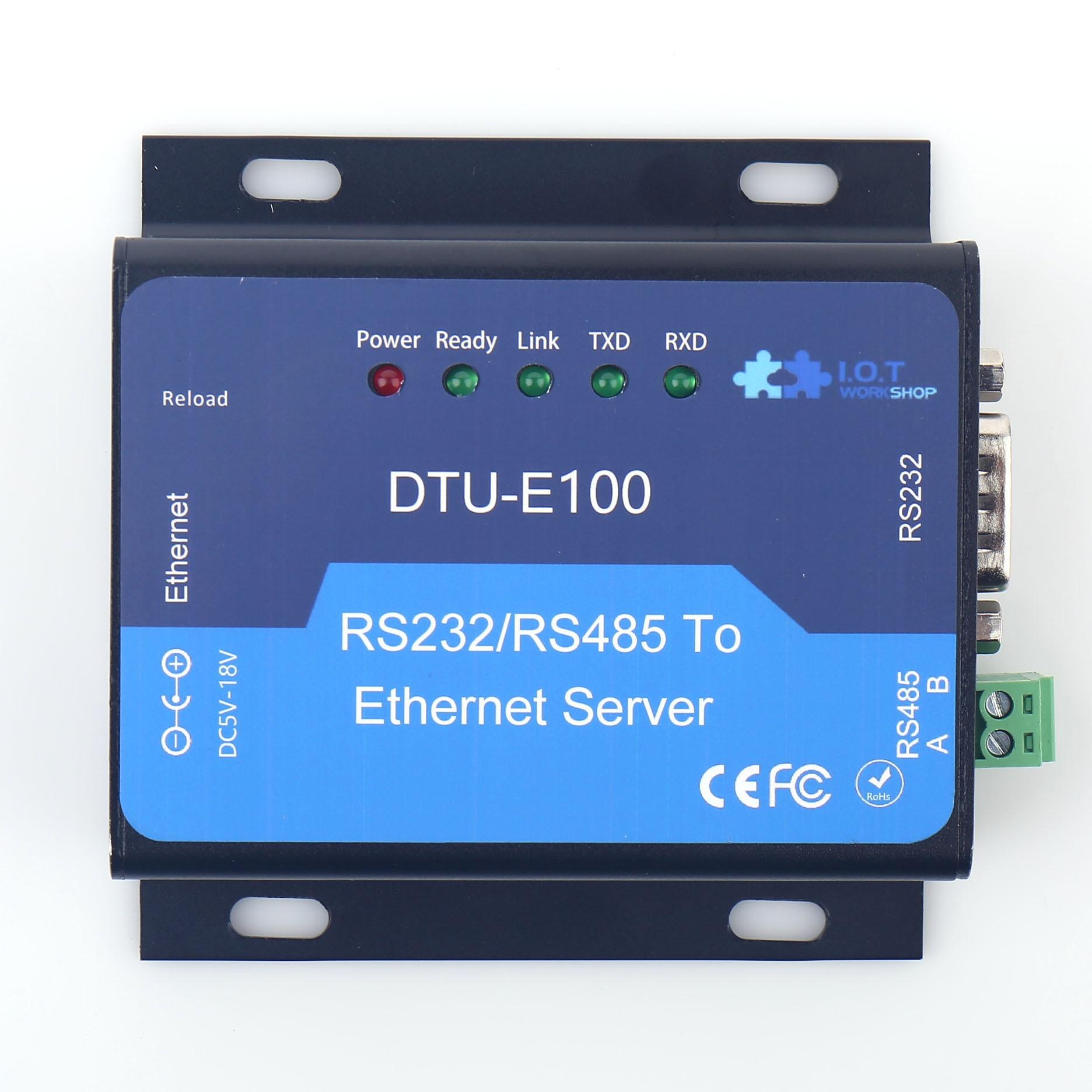 RS232 RS485 Go To Ethernet Server Converter TCP/IP 10/100 Ethernet DTU Serial Server