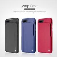 AMP Caso marca de luxo Para O Iphone 7 Iphone 7 Plus Nillkin nature tpu à prova de choque Função de Altifalante tampa traseira anti-skip