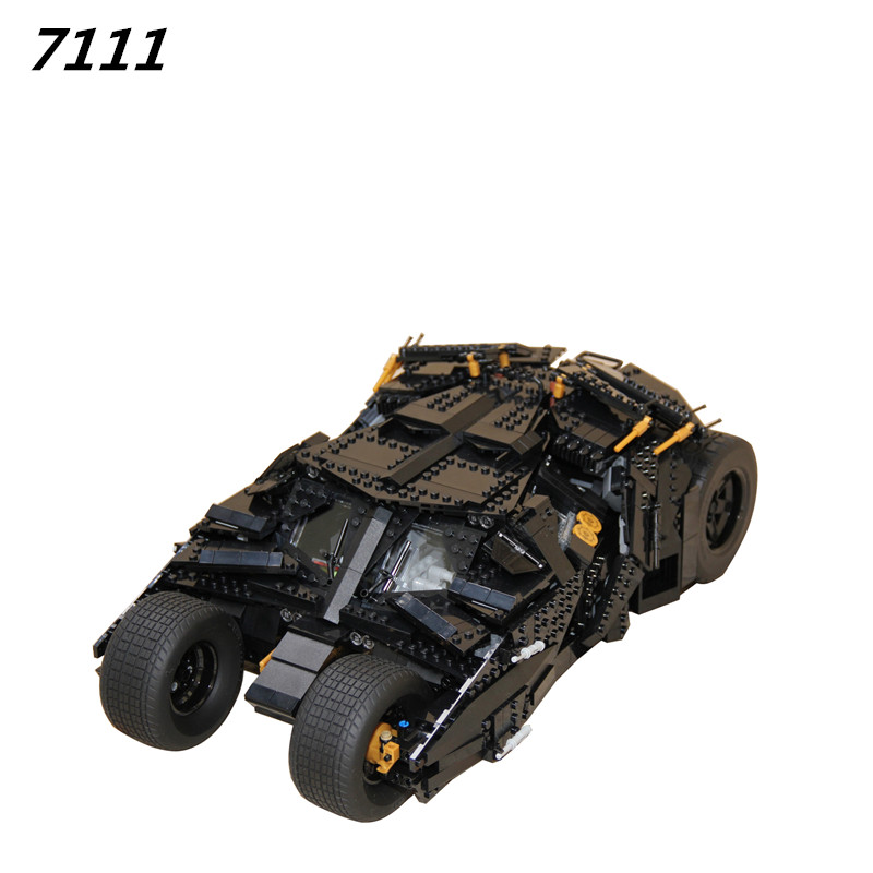AIBOULLY 7111 Building Blocks Super Heroes Batman Chariot Tumbler Batmobile Batwing Joker Minis Bricks Bringuedos 76023
