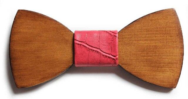 2016 papillon случайные галстук-бабочка моды древесины галстук джентльмен женщины новый галстук-бабочка мужской кожи свадебные галстуки человек мех mariage шеи носить