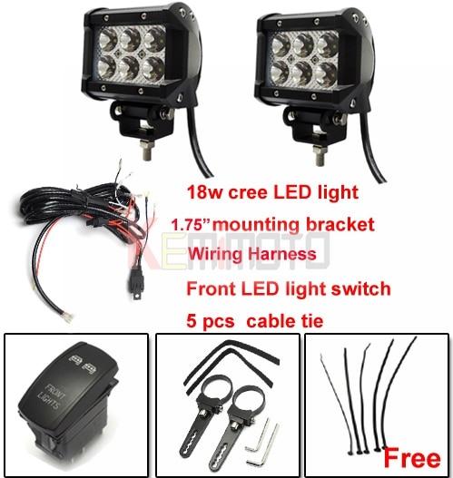 com buy mounting bracket w led light 1 75 mounting bracket 18w led light wiring harness switch for utv rzr