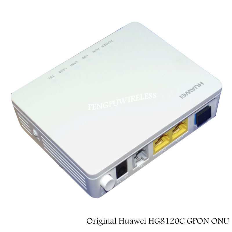 Sunny Wholesale 5pcs/lot Gpon Ont 2 Ethernet Ports And 1 Telephone Port Ftth Fiber Onu Hua Wei Hg8120c Router High-end Home Gate Way Punctual Timing Communication Equipments Cellphones & Telecommunications