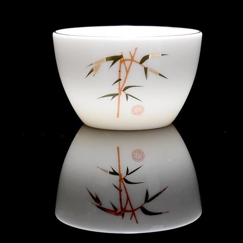 Premium Handpainted Ceramic Gong Fu Tea Cups Set 3