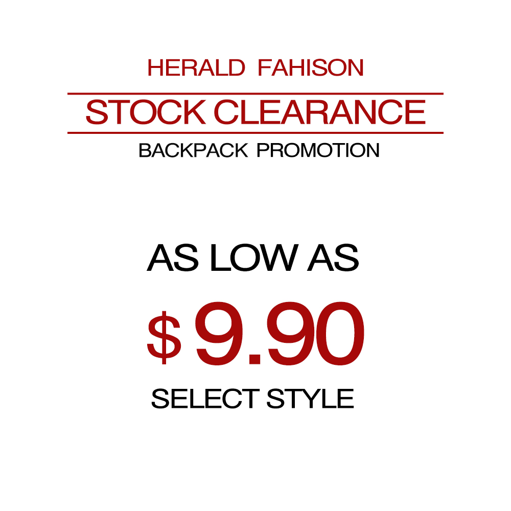 Herald Fashion Stock Clearance Women Backpack Super Promotions School Bag as Low as $9.99Herald Fashion Stock Clearance Women Backpack Super Promotions School Bag as Low as $9.99