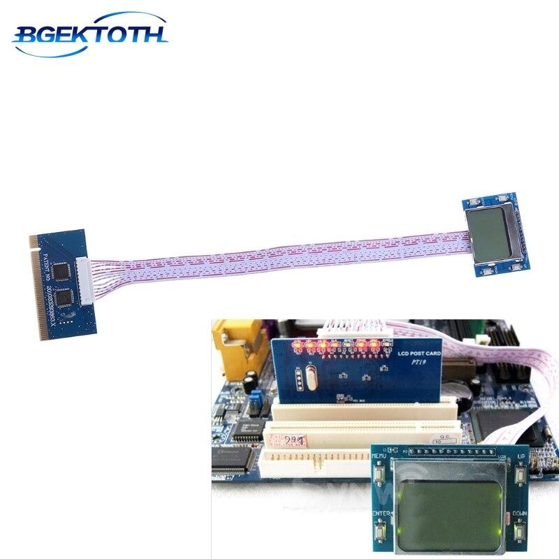 PCI Motherboard Diagnostic Tester Analyzer LCD Post Test Card For Desktop Laptop MAR29