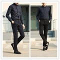2016 New Arrival Men Pants Formal Mid Zipper Fly Zipper Pants Casual Pants with 2 Color Full Length Outdoors Clothes 1611