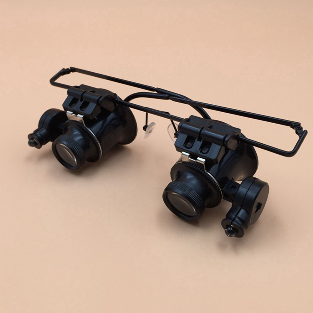 Kacamata Teleskop Mata Kaca Pembesar Dengan Lampu Led 20 Kali Alat Magnifying Lamp Service Robot Perbaikan Hd Di Bermata Teropong Dari Olahraga Hiburan