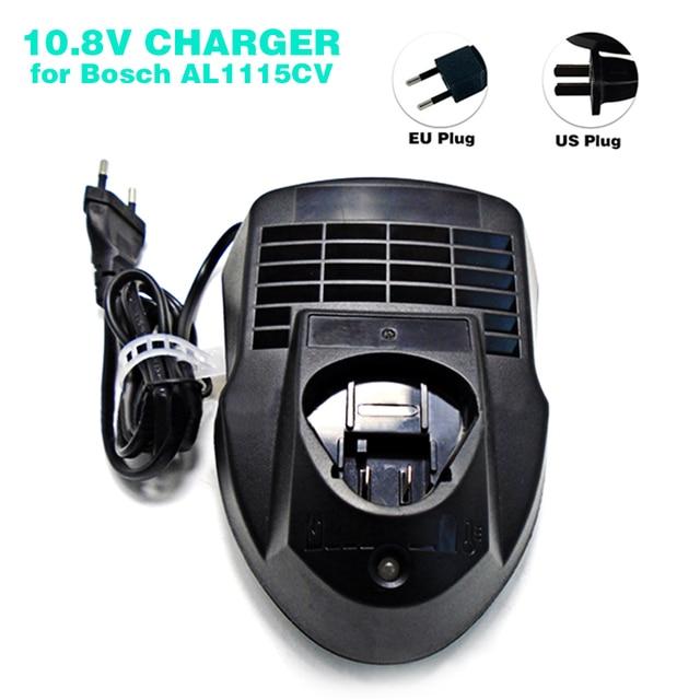 New Li ion Replacement Charger AL1115CV For Bosch Power Tools Battery 10.8V BAT411,BAT412A,2 607 336 996, US/EU Plug