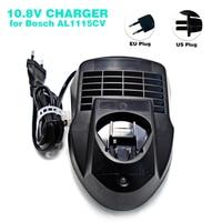 Tüketici Elektroniği'ten Şarj Cihazları'de Yeni lityum iyon yedek pil şarj cihazı AL1115CV Bosch elektrikli el aletleri için pil 10.8V BAT411  BAT412A  2 607 336 996  abd/ab tak