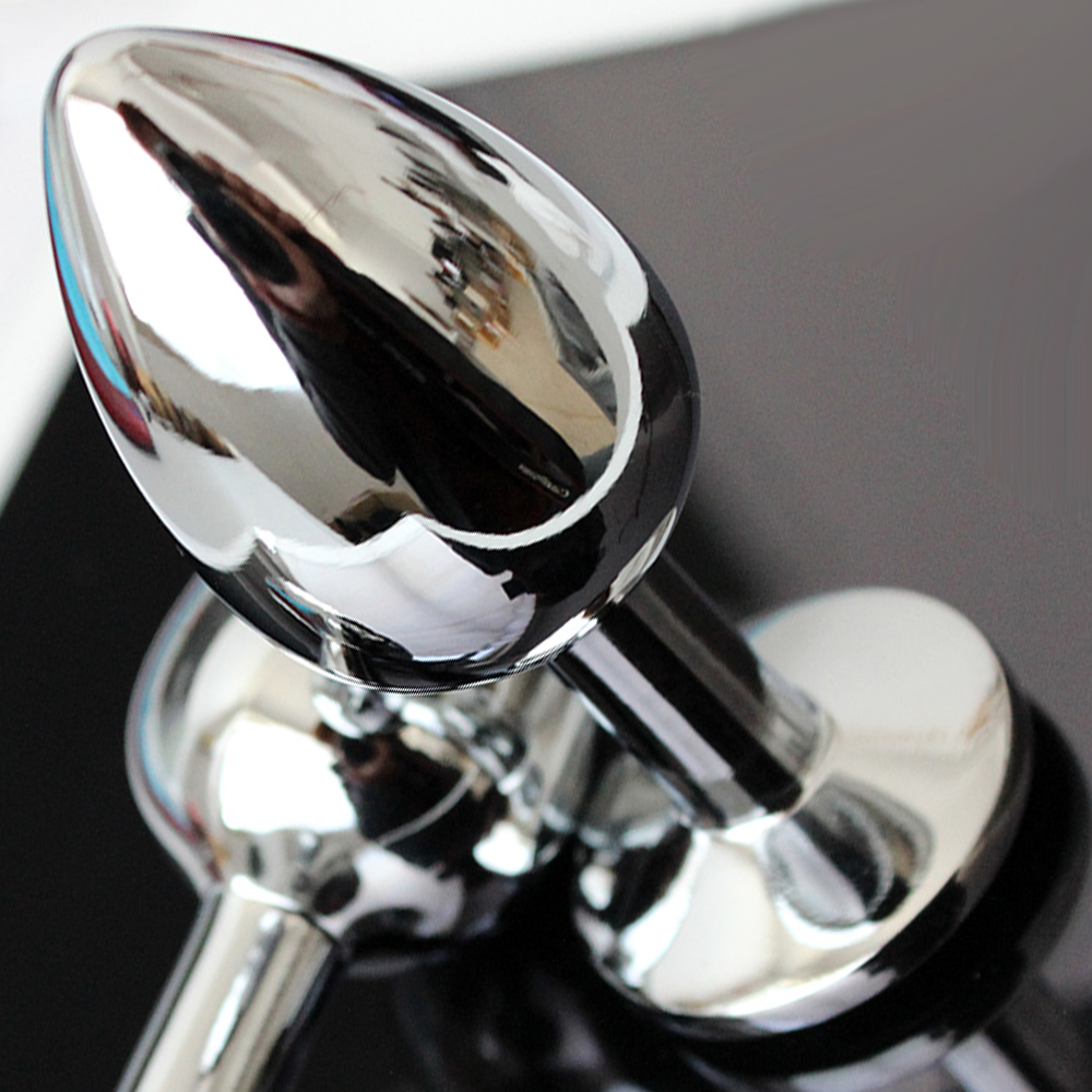 34Mm Stainless Steel Anal Dildo Metal Butt Plug With -8635