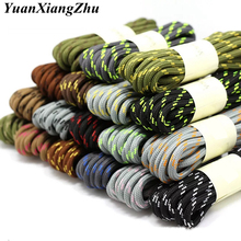1Pair outdoor sport casual 19Colors round shoelaces hiking slip rope shoe laces sneakers boot shoelaces strings100/120/140/160CM 1pair round shoelaces for men women work shoes casual male female shoes laces unisex solid color shoelaces 100 120 140 160cm