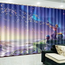 3d занавеска окно продвижение практика красивая красота декоративный интерьер красивые затемненные занавески s