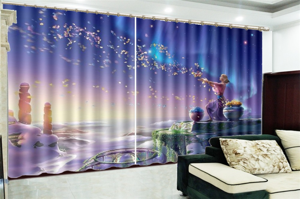 3d Curtain Window Promotion Practice Beautiful  Beauty Decorative Interior Beautiful Blackout Curtains3d Curtain Window Promotion Practice Beautiful  Beauty Decorative Interior Beautiful Blackout Curtains