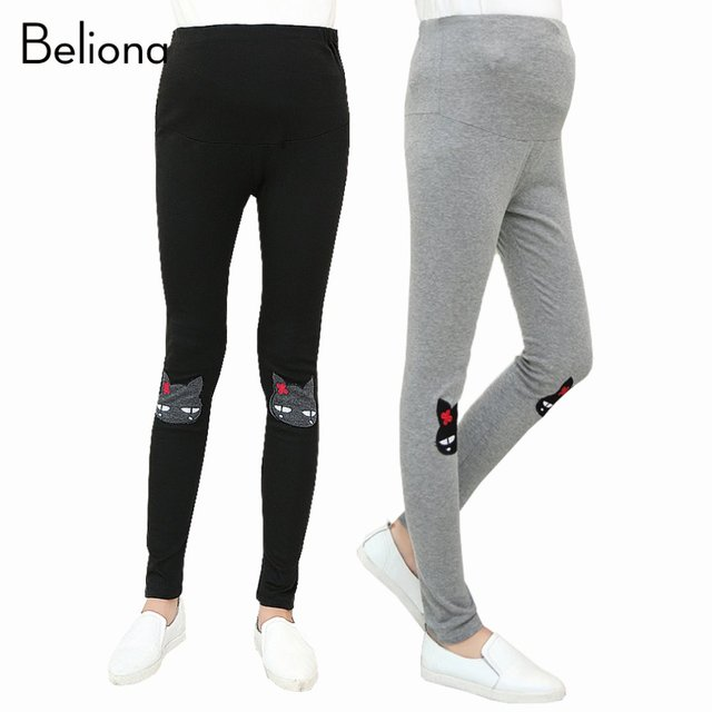 2017 New Thin Maternity Leggings for Spring Summer Cotton Skinny Pants for Pregnant Women High-waisted Casual Maternity Clothes