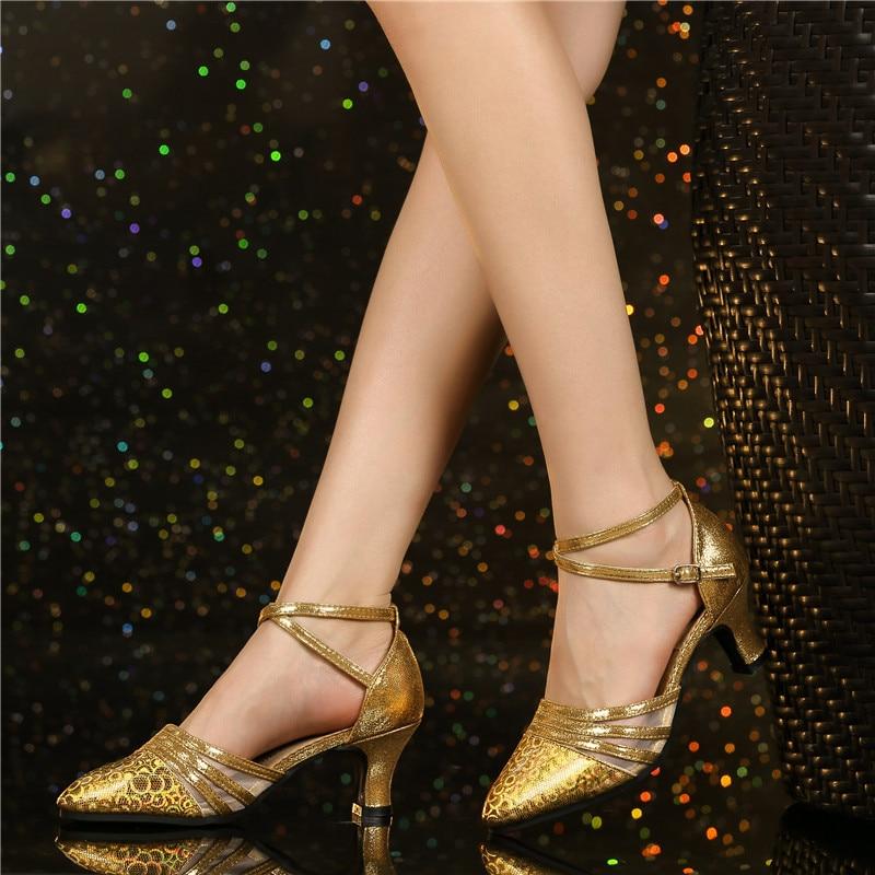Image 3 - HoYeeLin Modern Standard Dance Heels Women Ladies Closed Toe Tango Waltz Dancing Shoes Indoor Sole-in Dance shoes from Sports & Entertainment