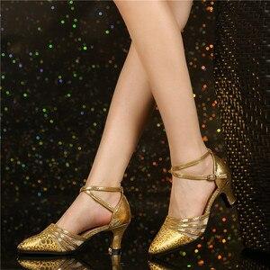 Image 3 - HoYeeLin Moderne Standaard Dance Hakken Vrouwen Dames Gesloten Teen Tango Wals Dansen Schoenen Indoor Zool