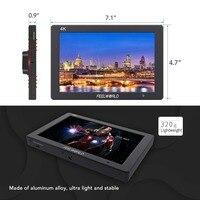 Feelworld T7 7 дюймов ips 4 К монитор HDMI 1920x1200 одноцветное Алюминий Корпус Камера поле монитор с обострением фокус накладные Цвет
