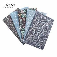 JOJO банты 40*50 см джинсовая ткань мягкие печатные цветочные листы для одежды Швейные материалы домашний текстиль украшение для дома банты для волос