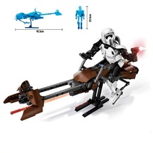 Legoings Star Wars Imperial Storm Scout Troopers Speeder Bike Building Block Compatible With 75532 Brick Toy