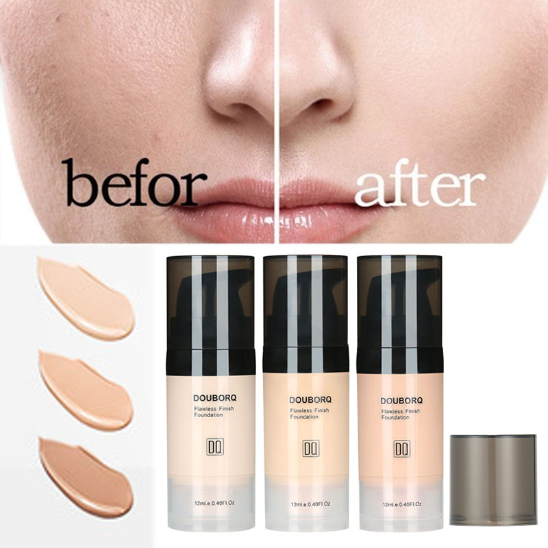 Foundation Base Makeup Professional Face Matte Finish Liquid Make Up Concealer Cream Waterproof Brand Natural Cosmetic image