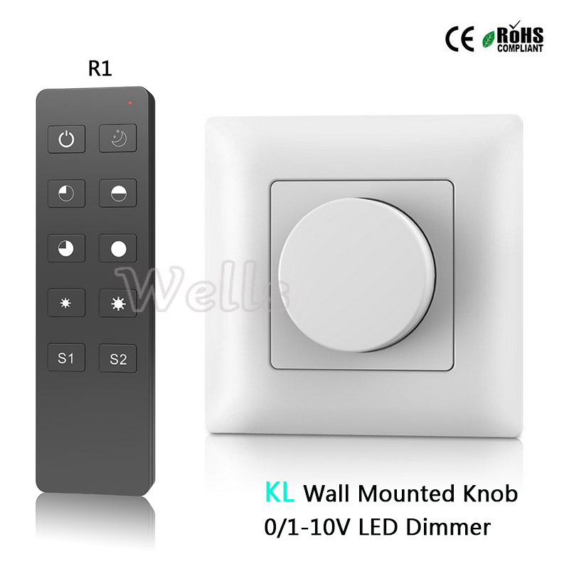 Free shipping KL Wall Mounted Knob AC85-265V 0-10V led dimmer Output 1 channel 0-10V signal High voltage AC input relay output 1 dn25 pneumatic female ball valve 2 way 304 screwed thread stainless steel ball valve double acting at straight way ball valve