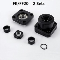 2pcs FK20 Fixed Side and 2pcs FF20 Floated Side for ball screw end support cnc part 2 sets FK/FF20