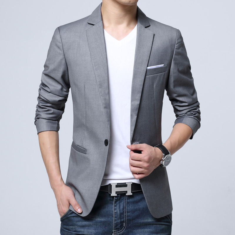 2019 Spring And Autumn New Small Suit Men's Self-cultivation Suits Youth Business Trend Suit