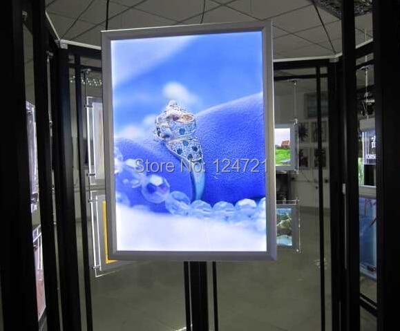 400mm x 600mm displays de sinalizacao de publicidade ao ar livre caixa de luz fino led