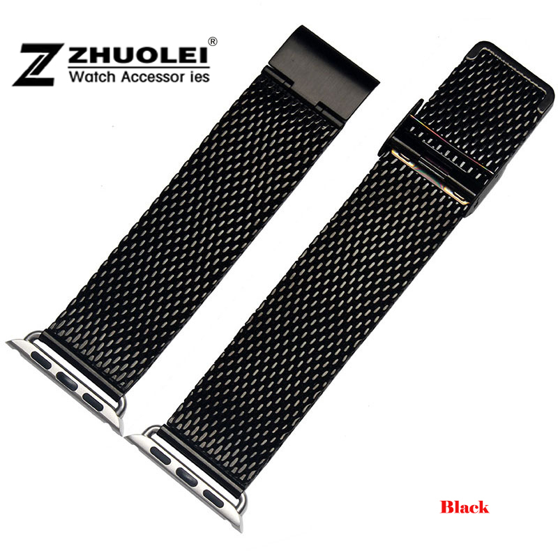 Stainless Steel Wrist Watchband For Apple Watch Band Link Strap 38mm 42mm with Connector Adapter iwatch Band bracelet Gold Black stainless steel band bracelet wrist strap for 38mm 42mm iwatch apple watch sport edition with adapter