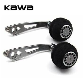 Kawa kołowrotek wędkarski ze stopu aluminium w kształcie piłki EVA gałka wędkarska, 7*4/8*5mm garnitur dla Abu i Daiwa Shimano akcesoria wędkarskie