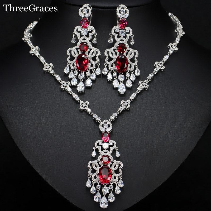 Trois grâces femmes africaines de luxe cubique zircone pierre Super longues boucles d'oreilles collier déclaration bijoux ensembles pour mariage JS175