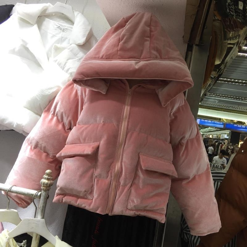 New Winter Cotton Short Velvet Coats Women Korean Style Hooded Warm Thick Bread Parkas Students Solid Long Sleeve Overcoats 2017 new women autumn winter thick warm hooded cotton coats