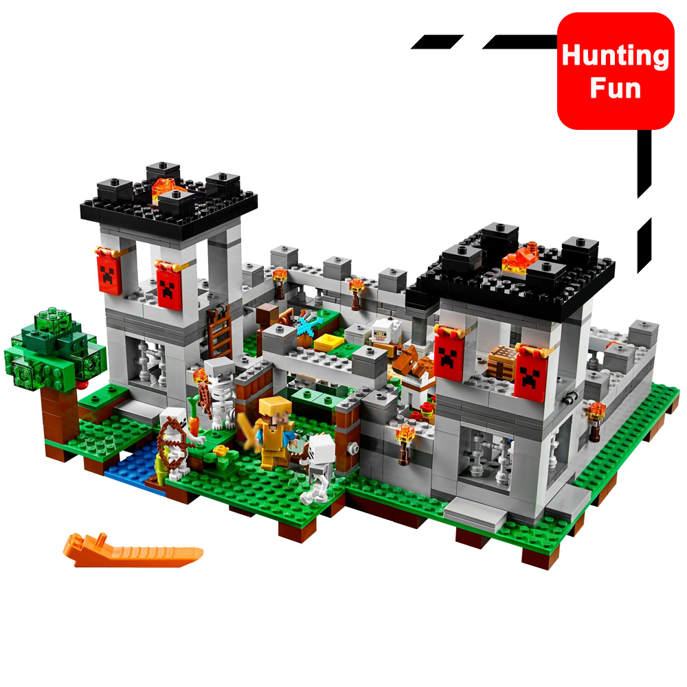 523pcs 18005 Set The Fortress Set Skeletons Mini figures Building Blocks Kits Toys Children Gifts Fit Legoness Minecraft 21127 compatible with lego my worlds minecraft model building kits 18005 21127 the fortress educational toys hobbies for children