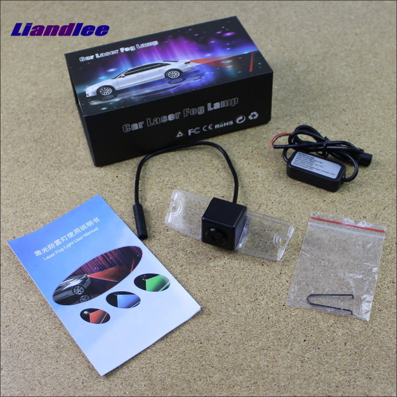 Liandlee For Morris Garages MG5 MG 5 Car Laser Light Prevent Rear-end Collision Warning Laser Light Haze Rain Fog Snow Lights for buick encore opel mokka 2012 2014 car rain lamp super bright special laser beam rear end collision warning light page href