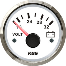 Boat Motorcycle Voltmeter 24v KUS 52mm with Red And Yellow Available-Backlight for Car