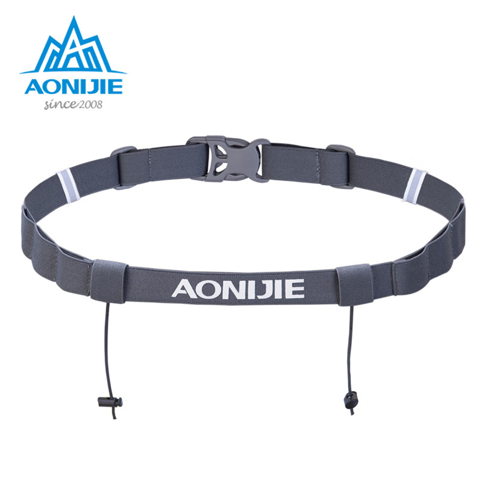 AONIJIE Running Waist Belt Triathlon Marathon Race Number Belt With Gel Holder Running Belt Cloth Belt Motor Running Outdoor