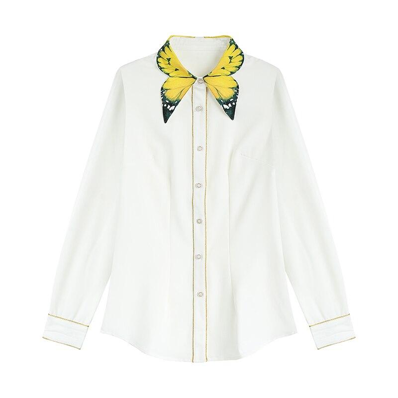 Vintage Anglaise, Blouse Femme, Blanc (White), SmallNoa