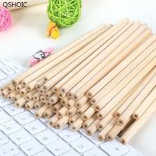 100pcs/set Wholesale Standard Pencil HB Non-toxic QSHOIC stationery Wood Pencils for School