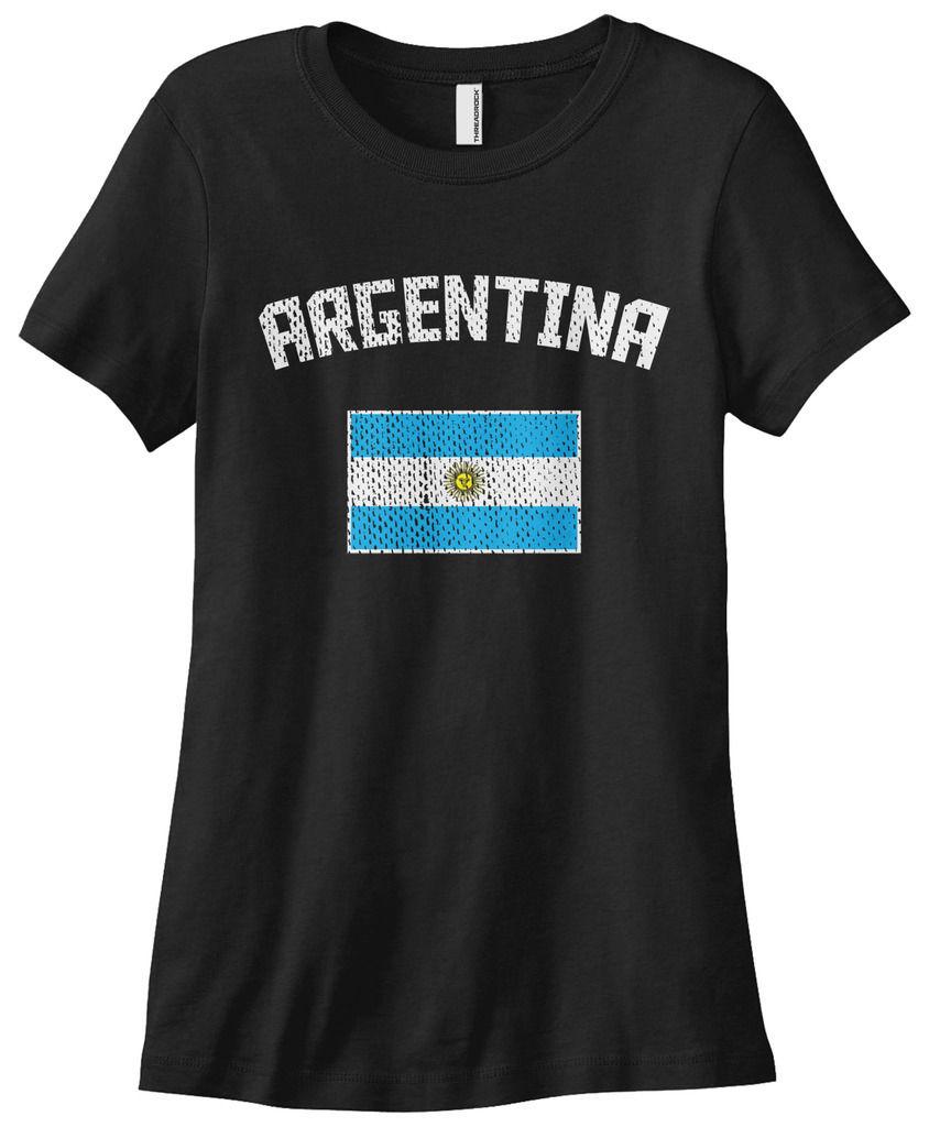 Desain t shirt unik - Buenos Aires Argentina Flag T Shirt Untuk Wanita Wanita Ramping Musim Panas 2017 Desain Fashion
