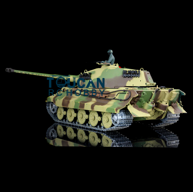 AU Lager HengLong 3888A <font><b>1</b></font>/<font><b>16</b></font> König Tiger Henschel RC <font><b>Tank</b></font> Upgraded Metall Ver Smog TH00086 image