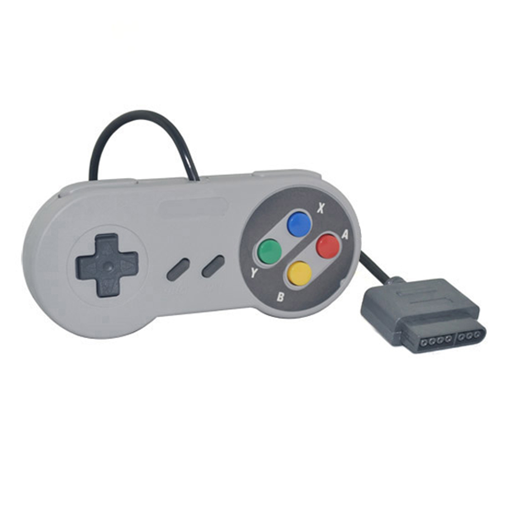 2PCS Wired gamepad retro Super Gaming Joypad Joystick for Nintendo SNES Controller for PC for MAC Controllers handle