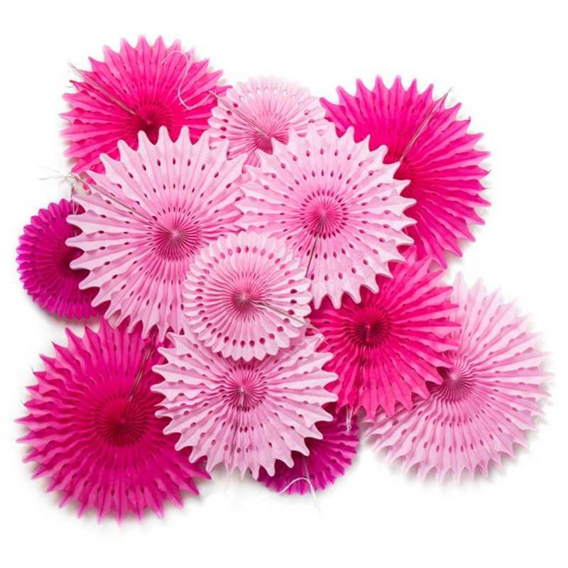 Свадебные украшения тканевые бумажные вееры Pinwheels фото фон цветы вырезанные снежинки вентиляторы ремесло День рождения душ вечерние комнаты