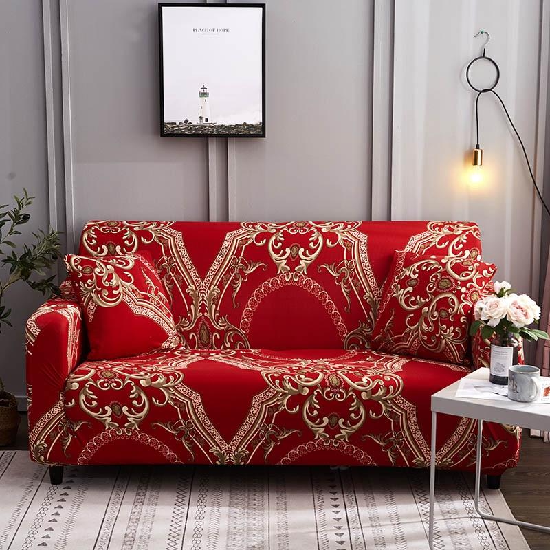 Спандекс чехлы для диванов стрейч чехол для секционного дивана диван набор диванных чехлов для гостиной диван housse количество, диванное покрывало, 1/2/3/4 местный-in Покрывало на диван from Дом и животные