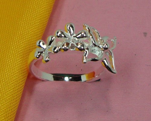 R216504 Free & Fast shipping Wholesale 925 silver elegant lady special flower pattern Rings