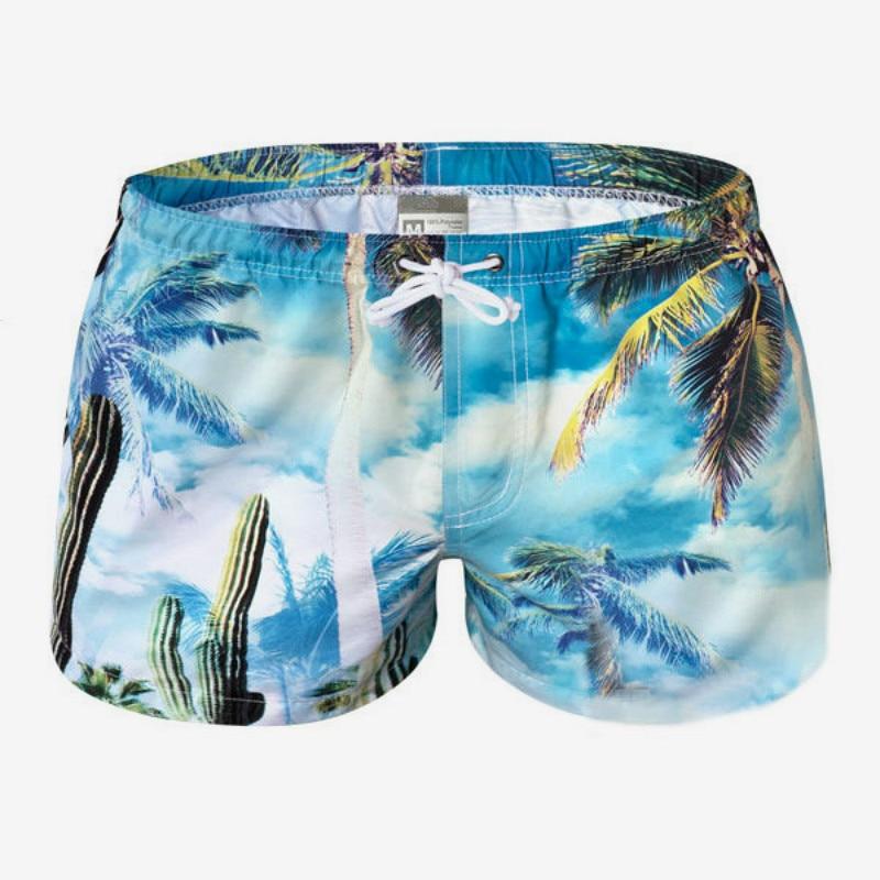 YOUSHO Mens Swim Trunks Stripe Horses Beach Shorts Quick Dry Mesh Lining Board Shorts Swimwear with Pockets