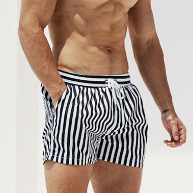 Купальники DESMIIT мужские s пляжные шорты для плавания купальный костюм водонепроницаемые полосатые мужские плавательные трусы одежда для плавания бордшорты Боксеры Трусы