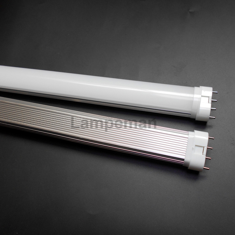 LED 2G11 Lamp Milky White / Transparent LED PL Tube Bulb Lights Clear real power 10w 12w 15w 20w 22W SMD 2835 2100-2300lm 9w 10w smd led pl tube pl energy savin lamp 850lm ac100 240v clear
