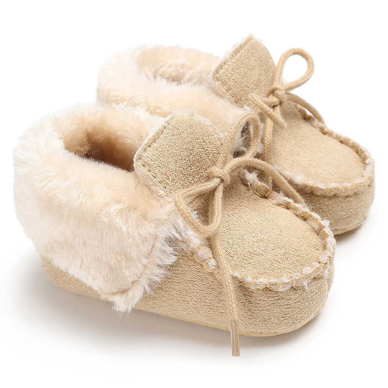 6b1fda4b6e939 Newborn Booties Baby Shoes Kids Cotton Winter Warm First Walker Babe Soft  Sole Snow Shoes Baby Boy Booty Girls Fur Winter Booty-in First Walkers from  Mother ...