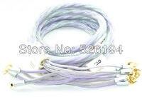 Бесплатная доставка Пара 2.5 м XLO Signature 3 аудио Динамик Кабели 2 до 2 лет вилочный наконечник Динамик кабель